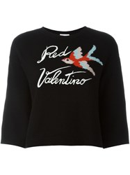 Red Valentino Bird Intarsia Jumper Black