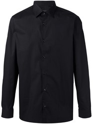 Z Zegna Button Up Shirt Black