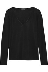 Theory Isakal Stretch Jersey Top Black