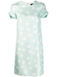 Paule Ka Polka Dot Mini Dress Green