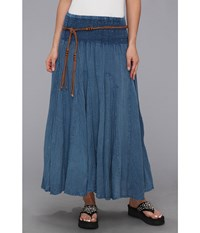 Scully Cantina Gar Ye Skirt W Belt Dark Blue Women's Skirt