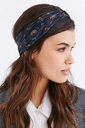 Urban Outfitters Shelby Stretch Headwrap Navy