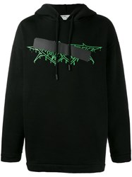 Off White Rock Mirror Hoodie Black