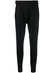 Aganovich Slim Fit Tailored Trousers Black