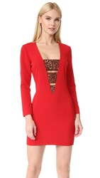 Haney Daphne Long Sleeve Dress Crimson