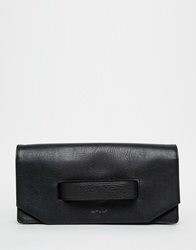 Matt And Nat Abiko Fold Over Clutch With Hand Grab Black