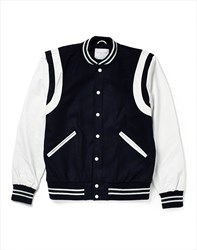 Selected Greaser Leather Varsity Black