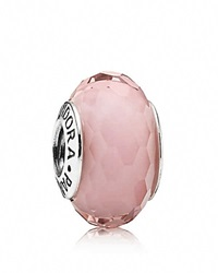 Pandora Design Pandora Charm Murano Glass Pink Fascinating Moments Collection Silver Pink
