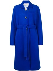 Emilio Pucci Blue Shaped Button Wool Coat