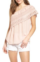 Socialite Women's Crochet One Shoulder Top
