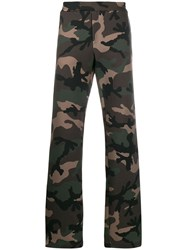 Valentino Vlogo Camouflage Track Trousers Green