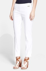 Tory Burch 'Callie' Seamed Crop Pants White
