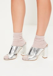 Missguided Pink Slinky Ankle Socks