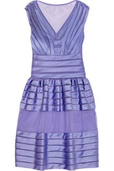 Temperley London Lilith Satin And Tulle Mini Dress Lavender