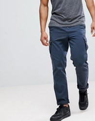 Solid Cargo Trouser With Belt Navy