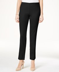 Charter Club Side Zip Slim Ankle Pants Only At Macy's Deep Black