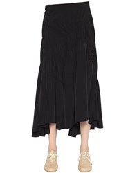 Y's Draped Techno Crepe De Chine Skirt