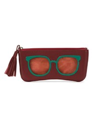Sarah Chofakian Leather Sunglasses Case Red
