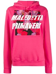 Gina Floral Graphic Print Hoody Pink