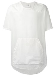 Lost And Found Rooms Pouch Pocket Sheer T Shirt Men Cotton Spandex Elastane L White