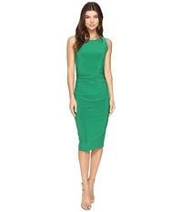 Norma Kamali Sleeveless Shirred Waist Dress Kelly Green Women's Dress
