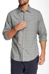 Relwen Brushed Plaid Worker Long Sleeve Classic Fit Shirt Gray