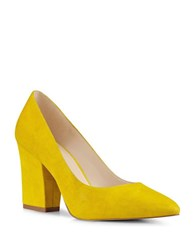 Nine West Sheila Slip On Suede Pumps Yellow