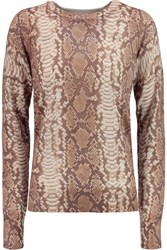 Equipment Sloane Snake Print Silk And Cashmere Blend Sweater Animal Print