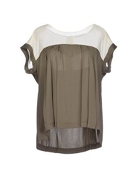 Axara Paris Blouses Military Green