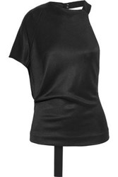 Narciso Rodriguez Woman One Shoulder Jersey Top Black