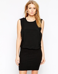 Y.A.S Short Sleeve Black Peplum Dress