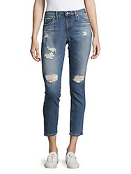 Ag Adriano Goldschmied Stilt Distressed Cigarette Jeans 17 Years Riot