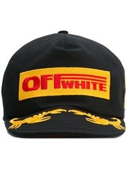 Off White Logo Patch Cap Black