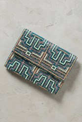 Anthropologie Tidal Maze Clutch Turquoise
