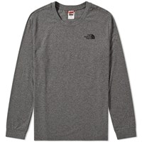 The North Face Long Sleeve Simple Dome Tee Grey