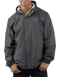 Avalanche Deluge Traditional Fit Hooded Rain Shell Jacket Asphalt