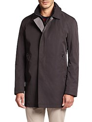Saks Fifth Avenue Double Face Trench Coat Black