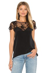 Nightcap Stone Washed Chantilly Blouse Black