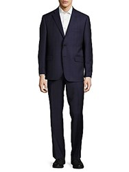Saks Fifth Avenue Classic Fit Woven Wool Suit Black
