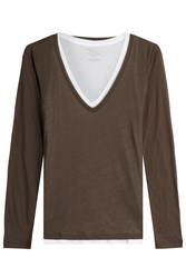 Majestic Layered Cotton Top With Cashmere Gr. 2