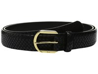 Lauren Ralph Lauren 1 1 8 Endbar On Faux Snake Strap W Metallic Gold Wash Black Women's Belts