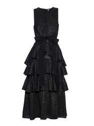 Erdem Luzia Daisy Brocade Ruffled Dress