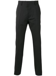 Dsquared2 Checked Trousers Men Virgin Wool 50 Black