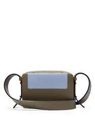 Lutz Morris Maya Grained Leather Cross Body Bag Khaki