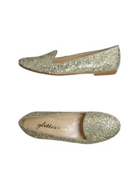 Glitter Pink Moccasins Gold