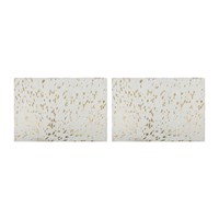 Amara Metallic Acid Cowhide Placemats Set Of 2 Gold