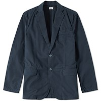 Save Khaki Twill Utility Blazer Blue