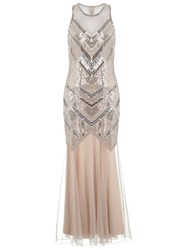 Miss Selfridge Boudica Maxi Dress Nude