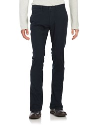 Hugo Boss Textured Twill Pants Navy