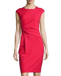 Lafayette 148 New York Side Ruched Sheath Dress Spark
